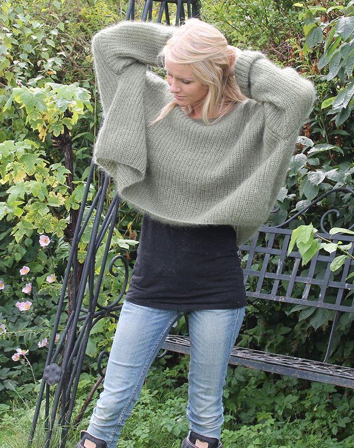 strikkeopskrift til oversize sweater