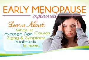 As the name suggests, early menopause is characterised by a woman losing her ovarian function at an early age. The average age for menopause is 51 years, though it can happen earlier or later. If menopause occurs before 40 years, it is regarded as early menopause.