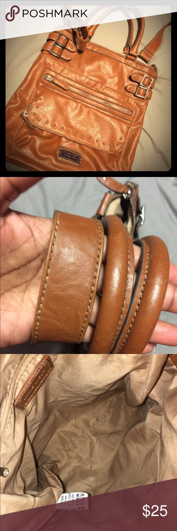 Nine West Purse Cognac colored purse with silver hardware. No imperfections Nine West Bags