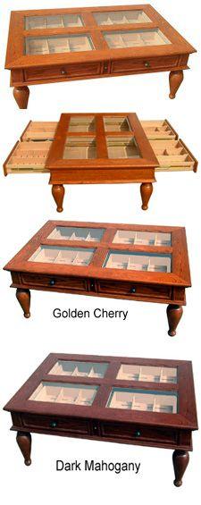 "Coffee Table Cigar Humidor www.LiquorList.com ""The Marketplace for Adults with Taste!"" @LiquorListcom #LiquorList"