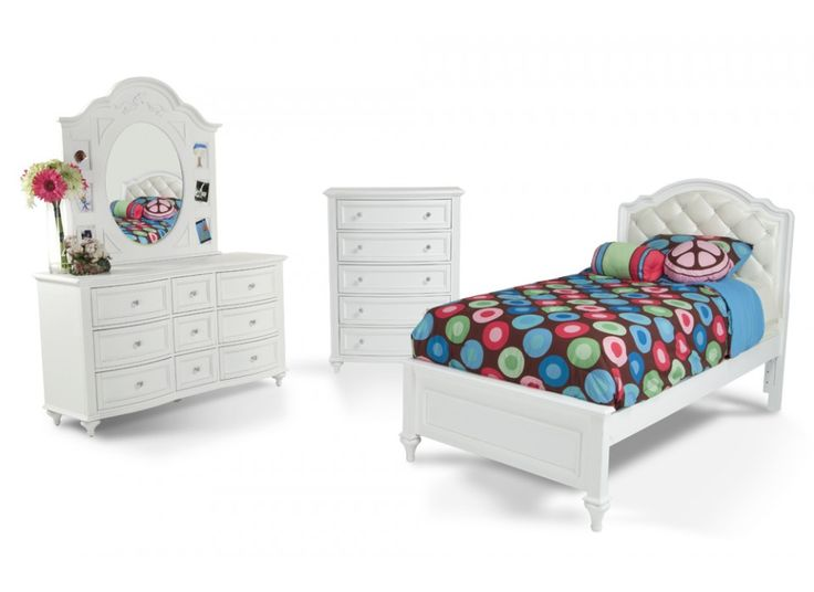 madelyn 7 piece upholstered twin youth bedroom set bob s 10641 | d86c65328d7537b37ff053f94f53b77b kids bedroom sets kid bedrooms