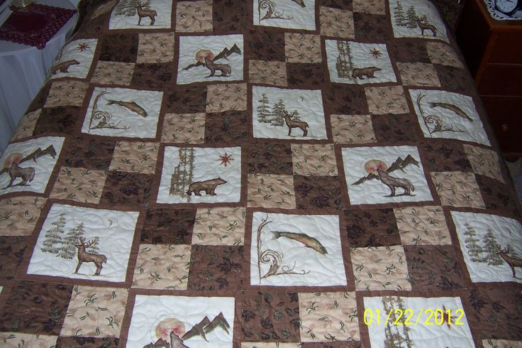 Queen size Wildlife Quilt - like the pattern, not the fabric choice
