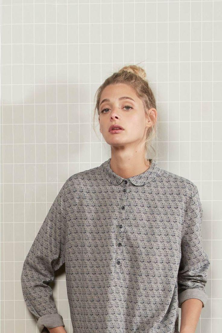 Chemise vienne marine marine - chemise femme - harris wilson 2