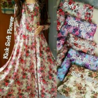 Klok Soft Flower Harga 140.000 Minimal pembelian 1 pcs Bahan Jersey