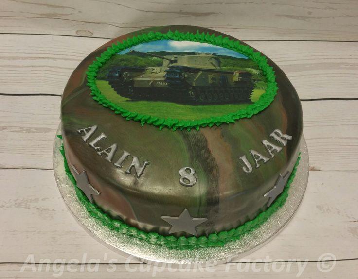 Leger taart voor de 8e verjaardag van Alain Militairy cake for Alain's 8th Birthday