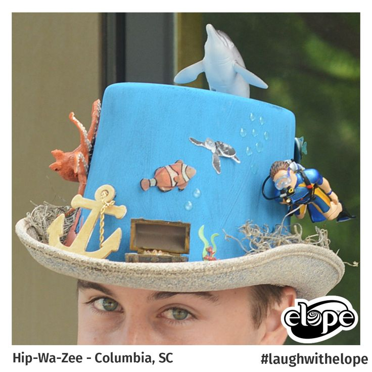 """""""2000 Leagues Under the Sea"""" by Sean Borgsteede Hip*Wa*Zee - Columbia, SC  Vote for this hat: http://woobox.com/27q2tb"""
