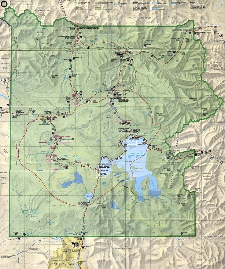 The Best Yellowstone Map Ideas On Pinterest Yellowstone - Us map with national and state parks
