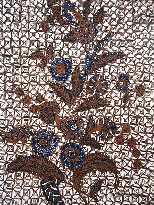 old BATIK JAVA INDONESIA FLOWER FLORAL bouquets KAIN PANJANG