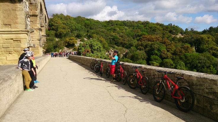 Sur les traces de l'Aqueduc et des Carrières du Pont du Gard. Balade à VTT Soft.