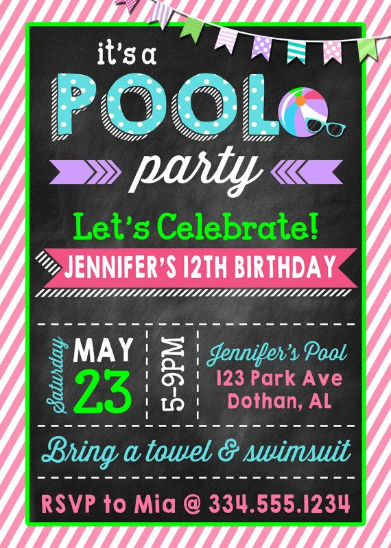 25 Best Ideas About Teen Pool Parties On Pinterest Diy