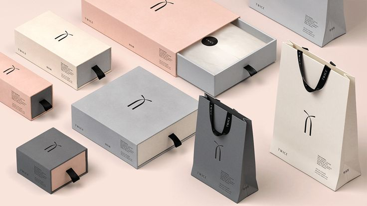 Visual identity and packaging for Chinese luxury accessory brand Twice by London based graphic design studio Socio Design
