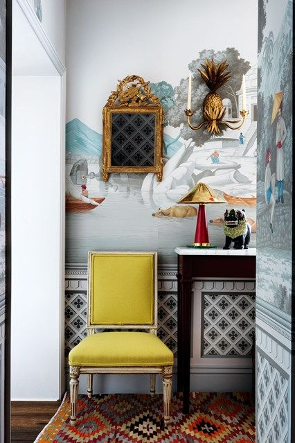 204 best images about chinoiserie walls wallpaper on for Foyer designs flats
