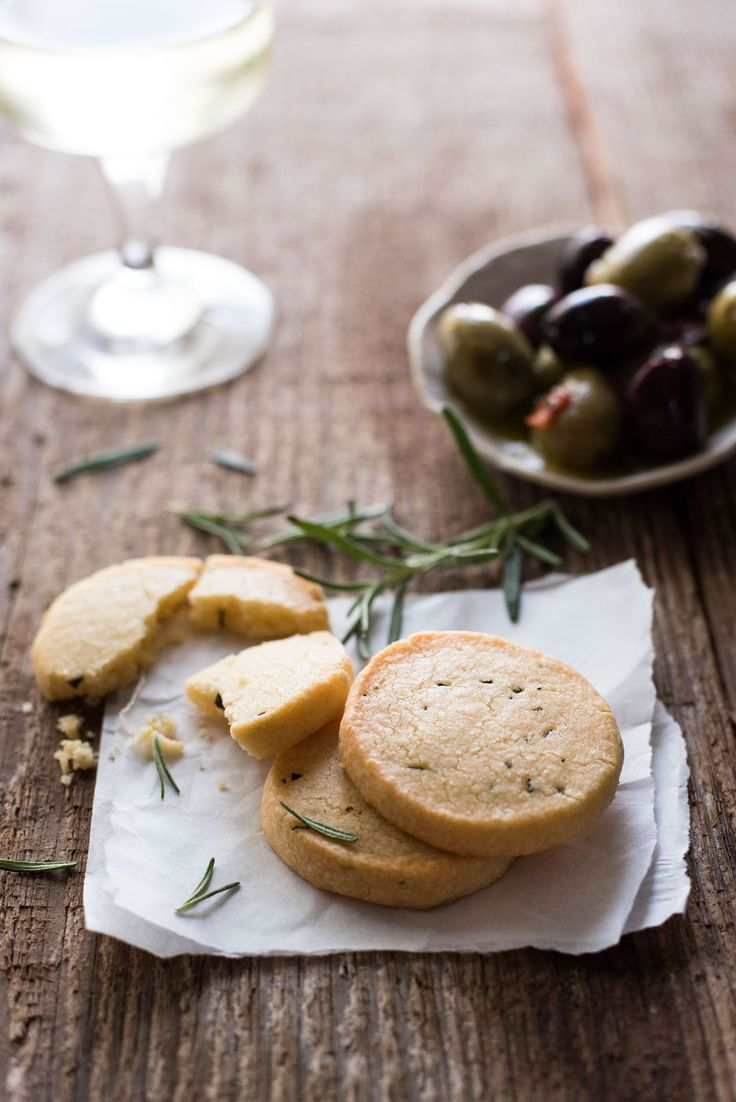 Parmesan Shortbread Biscuit - Butter, flour and parmesan (rosemary optional) is all you need to make these perfectly buttery, crumbly shortbread biscuits.