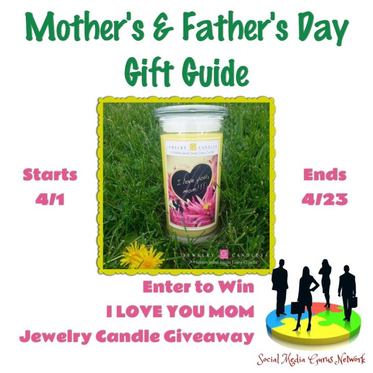 The I Love You Jewelry Candle Giveaway Event offers readers the chance to win a Jewelry Candle, which makes a great Mother's Day Gift.