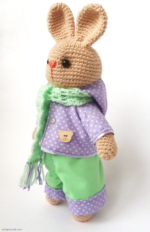 Crochet Bunny - free tutorial in russian