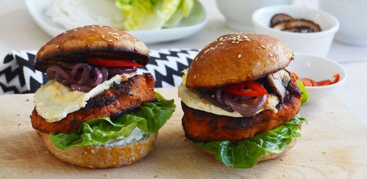 Saftig søtpotetburger til helgekosen - Vektklubb