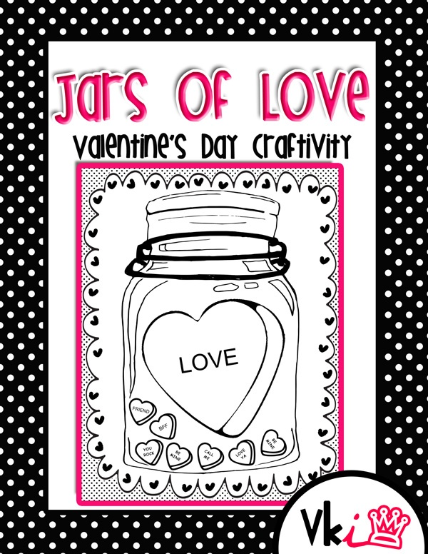 Jars Of Love Valentineu0027s Day Craftivity