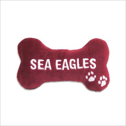 NRL Sea Eagles Chew Toy with Squeaker C A Australia