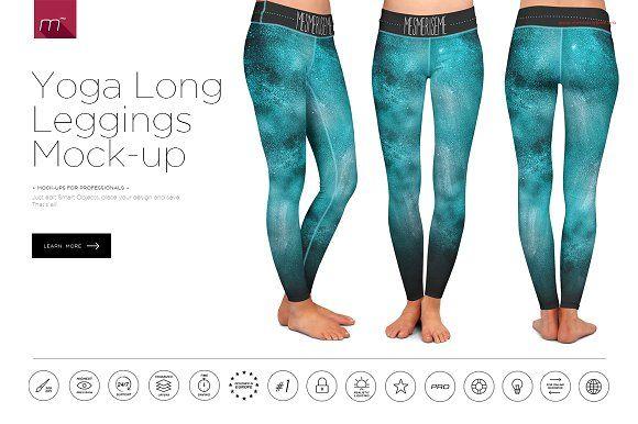 Yoga Leggings Long Mock-up