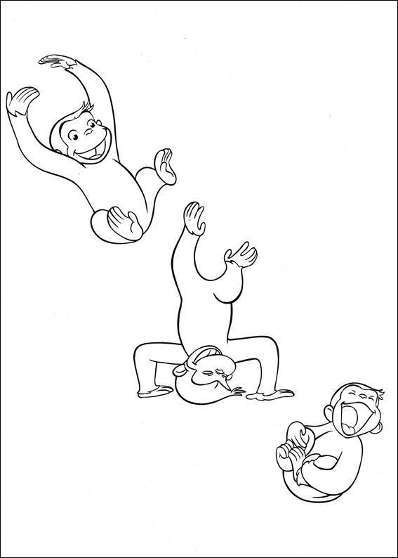 Desenhos para colorir e pintar para crianças George o Curioso 49
