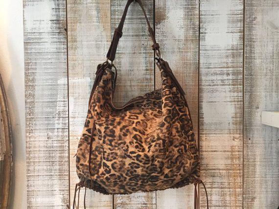 Leopard print hobo bag Soft leopard printed hobo purse by Percibal
