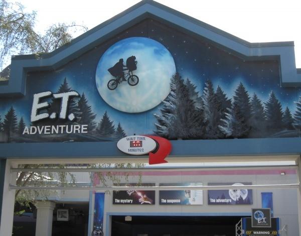 ET Ride, Universal Studios.