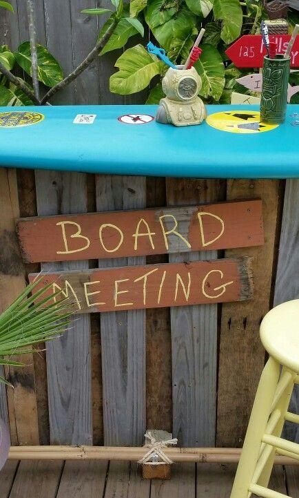 17 best images about bar ideas on pinterest diy outdoor for Surfboard bar top ideas