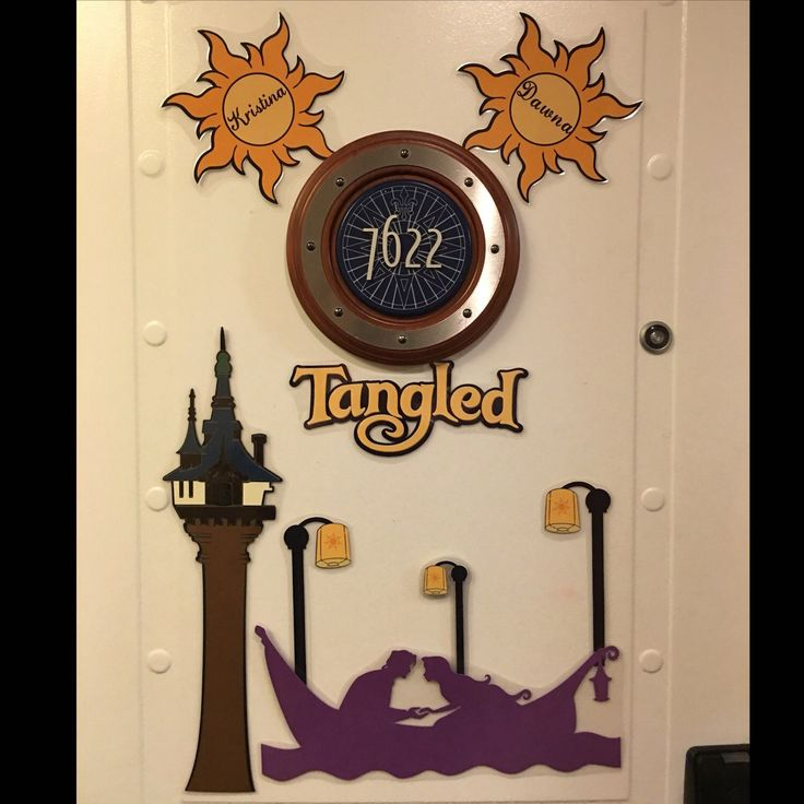 Tangled Disney Cruise Stateroom Door Magnets https://www.etsy.com/listing/271106141/tangled-disney-inspired-personalized