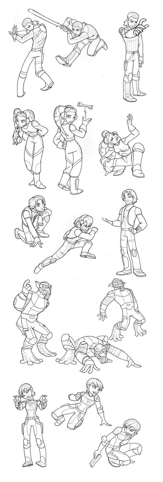 Hey guys, these are free to colour if you wish. remember to link back to me though. Star Wars: Rebels-Disney