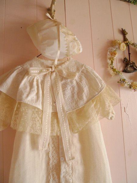 オーガニックコットンで仕立てたベビードレスです。お宮参りなどセレモニー用のドレスです。|ハンドメイド、手作り、手仕事品の通販・販売・購入ならCreema。