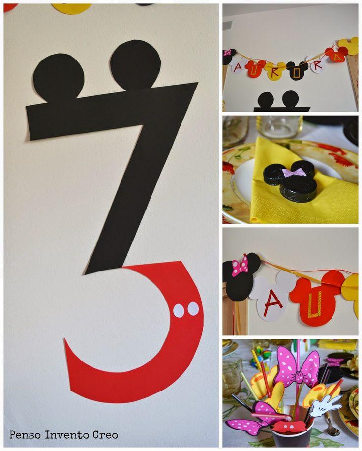 penso+invento+creo: Organizzare una Festa di Compleanno per bambini a tema Topolino- Mickey Mouse