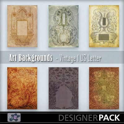 This is a pack of 6 beautiful vintage backgrounds sized for printing on US Letter paper or card. They are in png format so you can also use ...