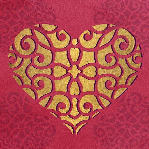 Симпатичные Wall Art и DIY живопись с кружевом стенки сердца Трафареты
