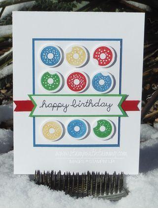 #wwys44, #sprinklesontop, #stampwithtammy, #stampinup, #birthday, #handstamped