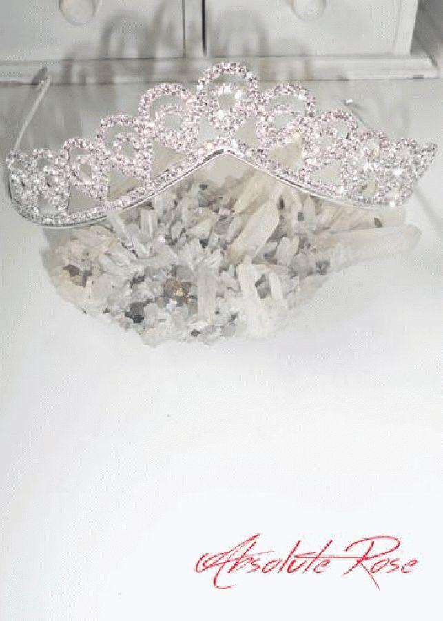 Кристална корона за коса lady of the Ocean Короната имавеликолепен блясъкот първокласни кристали