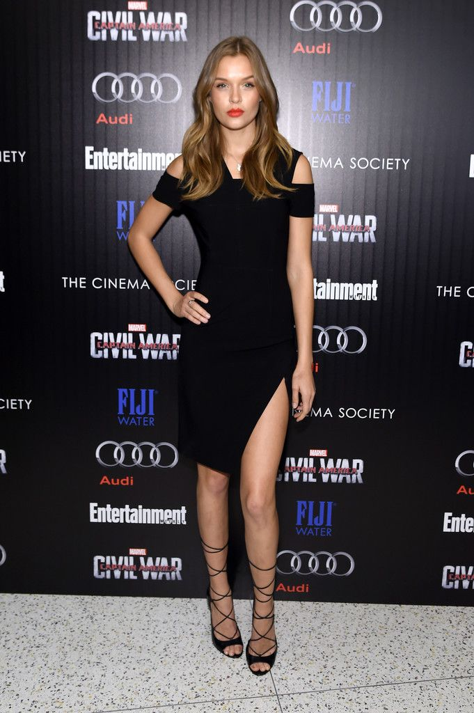 Josephine Skriver Rocks a Little Black Dress for the 'Captain America: Civil War' Screening