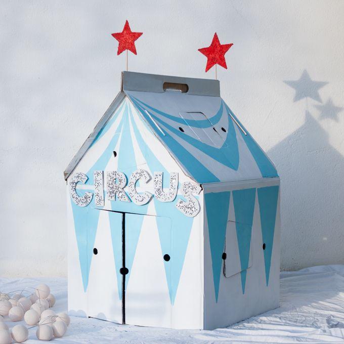 customized kidsonroof cardboard house