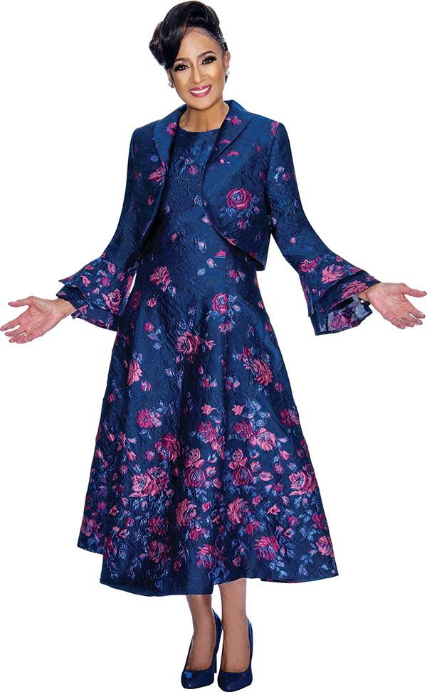 Dcc Dcc1812 Floral Printed Dress With Double Layer Bell Sleeve