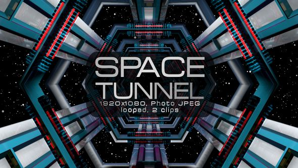 Space Tunnel Video Animation | 2 clips | Full HD 1920×1080 | Looped | PhotoJPEG | Can use for VJ, club, music perfomance, party, concert, presentation | #3d #blinking #dance #disco #edm #electro #hexagon #loops #music #particle #space #star #techno #tunnel #vj