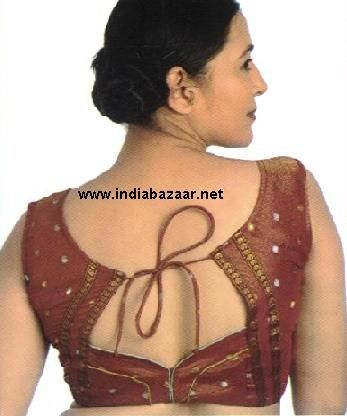 A choli:  is a midriff-baring blouse shell garment in the Indian sari costume worn in India,  Pakistan, Sri Lanka, Bangladesh, and other countries where the sari is worn.The choli is cut to fit tightly to the body and has short sleeves and a low neck. The choli is usually cropped, allowing exposure of the navel; the cropped design is particularly well-suited for wear in the hot South Asian summers. . Lee Rouxuan FD1A2