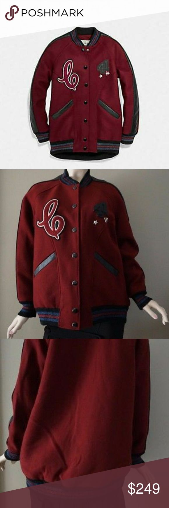 Nwt Coach Boyfriend Varsity Jacket Nwt women's Coach Boyfriend Varsity Jacket  Ships with Coach garment bag Msrp $795 No offers No trades Coach Jackets & Coats Utility Jackets