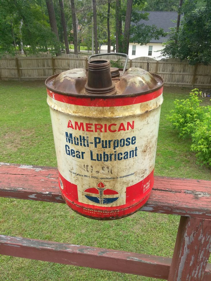 Antique American Gas 5 Gallon Lubricant Can by TreasureHuntersShop on Etsy