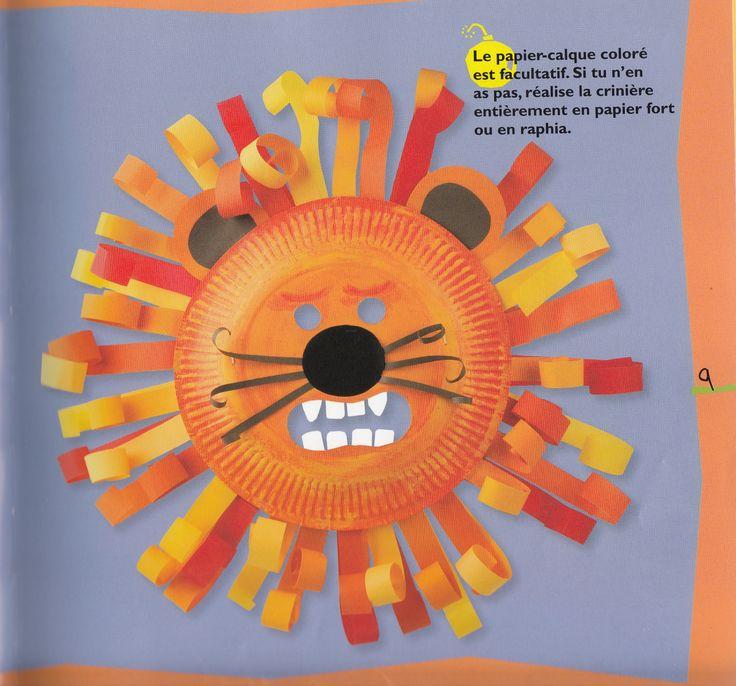 DIY Masque Lion Carnaval, livre Masques de Lebailly, Fleurus                                                                                                                                                                                 Plus