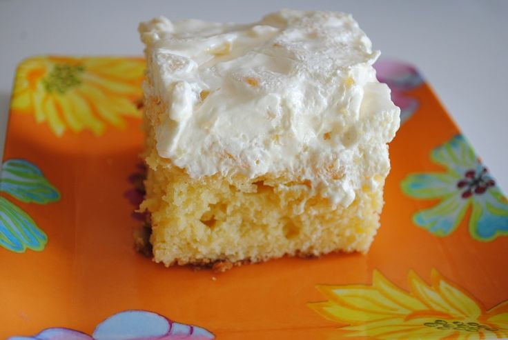 Pineapple Dream Cake - I need to make this one (have never tried to make it but love it at potluck dinners)
