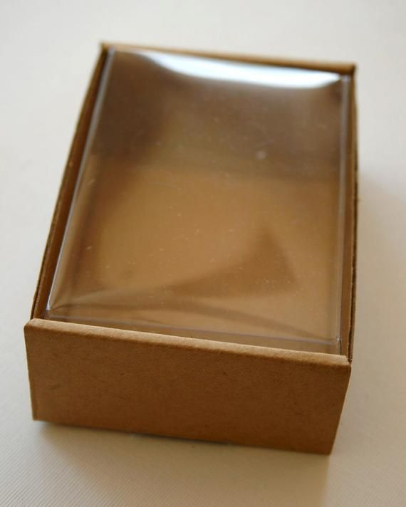 Heavy Kraft Cardboard Boxes Set Of 10 Clear Top Etsy Cardboard Box Kraft Packaging Box Packaging