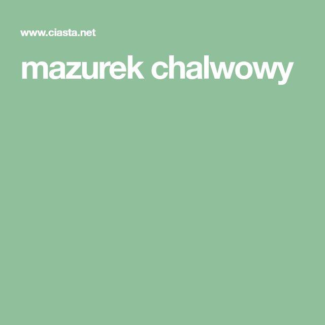 mazurek chalwowy