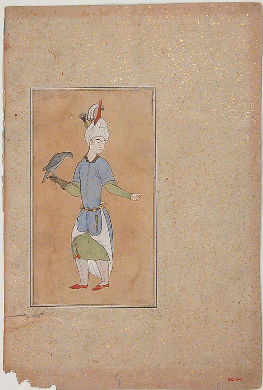 Portrait of a Noble Date: imitation of 16th century Geography: Iran Medium: Opaque watercolor, ink, and gold on paper Dimensions: H. 10 1/2 in. (26.7 cm) W. 7 in. (17.8 cm) Metropolitan Museum of Art 30.60