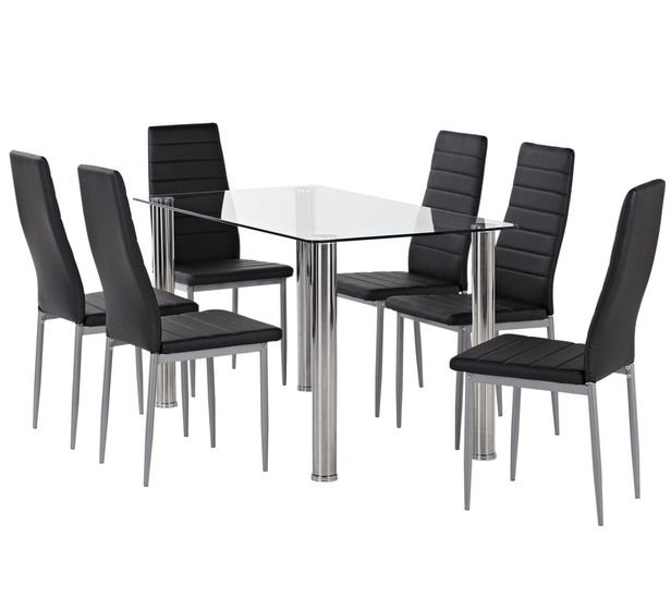 Zoe 7 Piece Dining Set With Zara Chairs 269