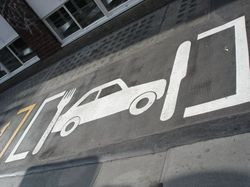 Parallel parking on the dinner table? Cool #streetart