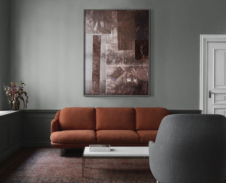 3-seater Lune™ modular sofa in the colour Gingersnap